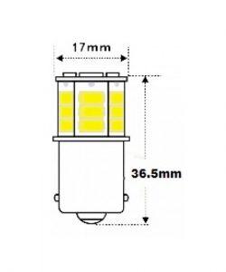 12v-24v-BA15S-1156-18x5730SMD-WHITE-Canbus-LED-Indicator-bulb-led-shop-online-3