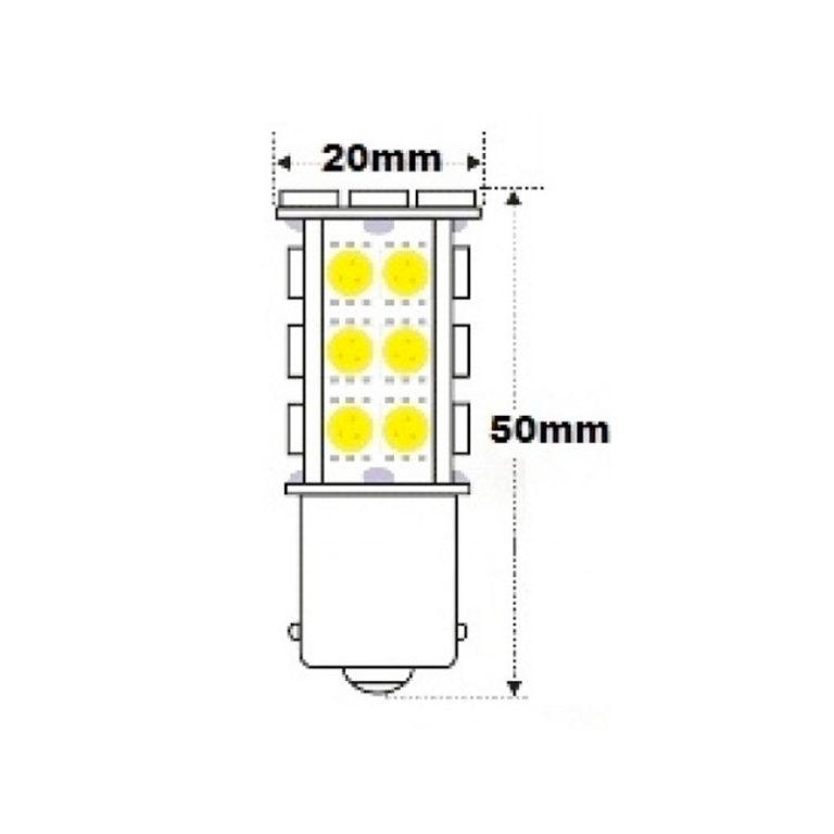 12v-BA15S-1156-AMBER-Canbus-LED-bulb-400lm-led-shop-online-2